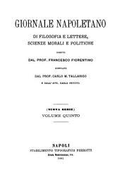 Giornale napoletano di filosofia e lettere, scienze morali e politiche: Volume 5