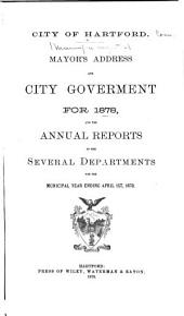 Municipal Register of the City of Hartford ...