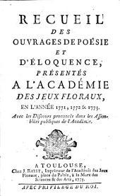 Recueil de l'Académie des jeux floraux