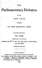 The Parliamentary Debates from the Year 1803 to the Present Time PDF