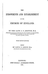 The Endowments and Establishment of the Church of England: Page 1