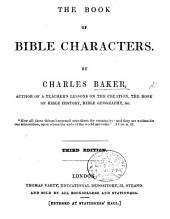 The Book of Bible Characters ... Third Edition