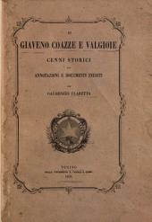 Di Giaveno, Coazze e Valgioie cenni storici con annotazioni e documenti inediti per Gaudenzio Claretta