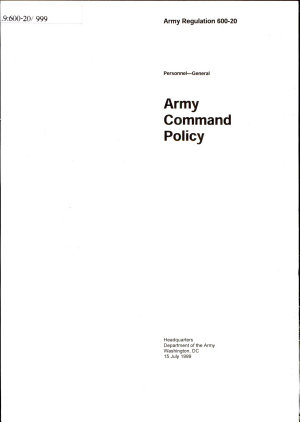 Army Command Policy