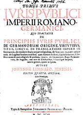 Ius publicum imperii romano-germanici: cum Aditt, Volume 1