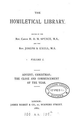 The homiletical library  ed  by H D M  Spence and J S  Exell PDF
