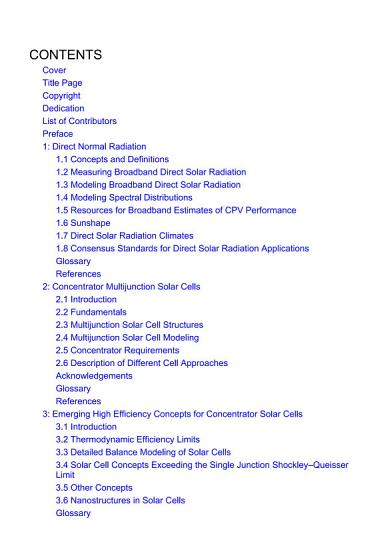 Handbook of Concentrator Photovoltaic Technology PDF