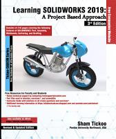 Learning SOLIDWORKS 2019  A Project Based Approach  3rd Edition PDF