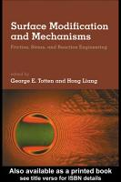 Surface Modification and Mechanisms PDF
