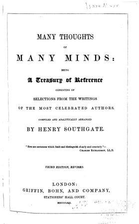 Many Thoughts of Many Minds PDF