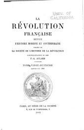 La Révolution française: Volumes28à29
