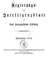 Regierungs- und Intelligenzblatt für das Herzogtum Coburg: 1854