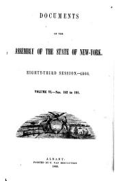 Documents of the Assembly of the State of New York: Issues 182-191