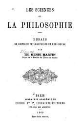 Les sciences et la philosophie: essais de critique philosophique et religieuse
