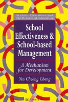 School Effectiveness and School based Management PDF