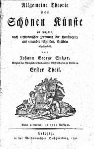 Allgemeine theorie der sch  nen k  nste in einzeln PDF