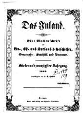 Das Inland: eine Wochenschrift für d. Tagesgeschichte Liv-, Esth- u. Kurlands, Band 27