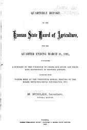 Report of the Kansas State Board of Agriculture