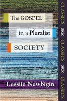 The Gospel in a Pluralist Society PDF