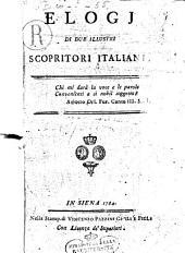 Elogj di due illustri scopritori italiani
