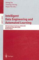 Intelligent Data Engineering and Automated Learning PDF