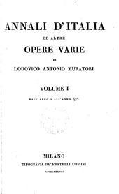 Annali d'Italia ed altre opere varie: Dall'anno I all'anno 475