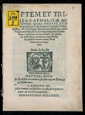 Septem et Triginta catholicae assertiones
