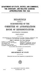 Departments of State, Justice, and Commerce, the Judiciary, and Related Agencies Appropriations for 1968
