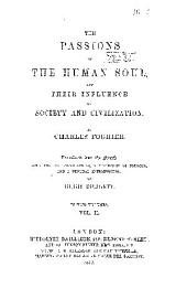 The passions of the human soul: Volume 2