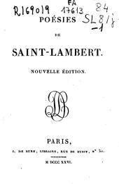 Poesies de Saint-Lambert