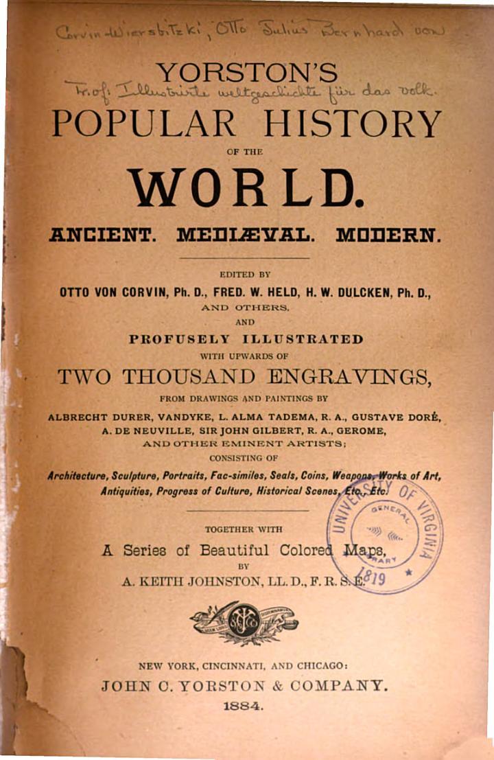 Yorston's Popular History of the World