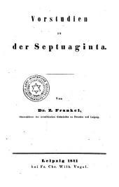 Vorstudien zu der Septuaginta
