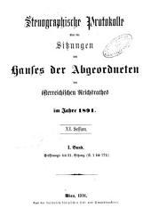 Stenographische Protokolle über die Sitzungen des Hauses der Abgeordneten des österreichischen Reichsrates: Ausgaben 1-21