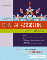 Mosby s Dental Assisting Exam Review   E Book PDF