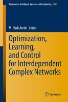 Optimization  Learning  and Control for Interdependent Complex Networks PDF
