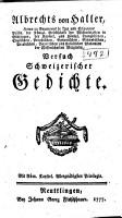 Versuch schweizerischer Gedichte PDF