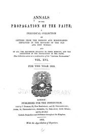 Annals of the Propagation of the Faith: Volume 16