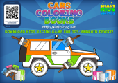 Coloring Book with 4x4 Offroad Car (A4): for little boys and girls, toddlers, free