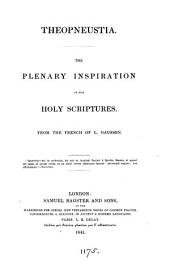 Theopneustia: the plenary inspiration of the holy Scriptures