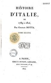 Histoire d'Italie, de 1789 à 1814: Volume2