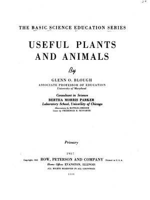 Basic Science Education Series: Useful plants and animals