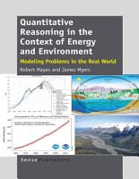 Quantitative Reasoning in the Context of Energy and Environment PDF