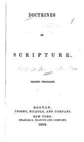 Doctrines of Scripture