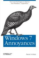 Windows 7 Annoyances PDF