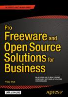 Pro Freeware and Open Source Solutions for Business PDF