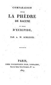 Comparaison entre la Phèdre de Racine et celle d'Euripide