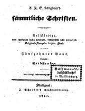 Prosaische Werke: Herbstrosen, Band 10