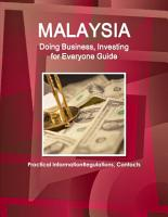 Malaysia  Doing Business  Investing for Everyone Guide   Practical Information  Regulations  Contacts PDF