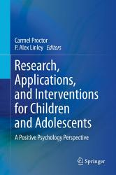 Research Applications And Interventions For Children And Adolescents Book PDF
