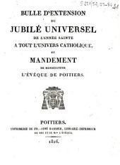 Bulle d'extension du Jubilé universel de l'année sainte à tout l'univers catholique